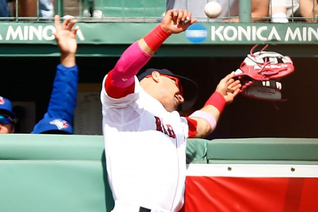 Victorino Taken to Hospital to Get Ribs/back Checked out