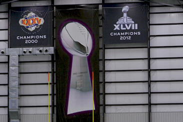 The Caw: New Super Bowl Banners Hung
