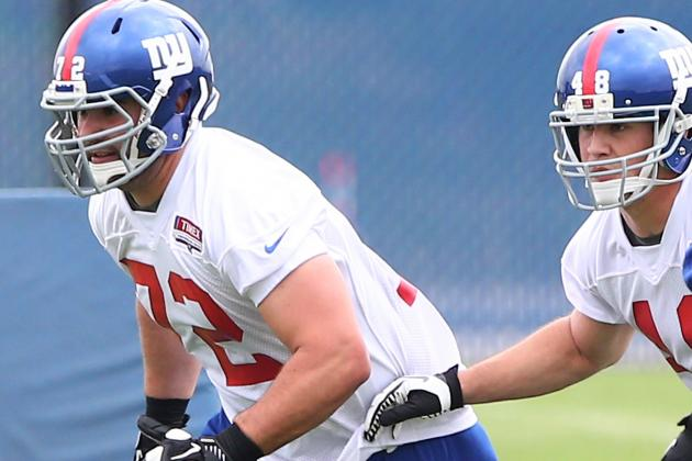 Giants' Justin Pugh Ready, Willing and Able to Slide to the Right Side