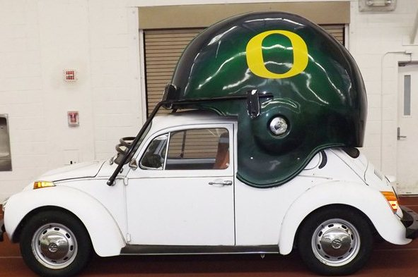 PHOTO: You Can Buy an Oregon Helmet Car