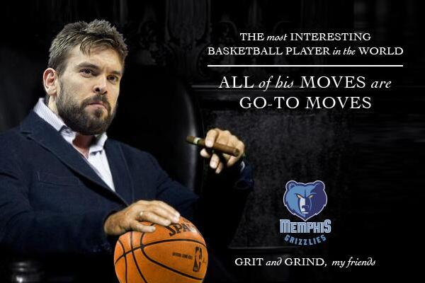 Memphis Grizzlies Center Marc Gasol Is the New Most Interesting Man in the World