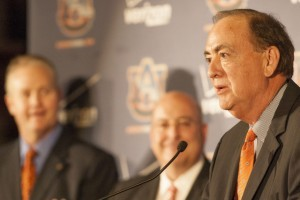 Auburn University President Jay Gogue Supports AD Jay Jacobs