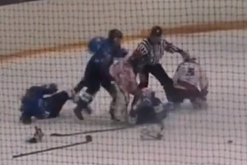 Insane Youth Hockey Brawl Breaks Out
