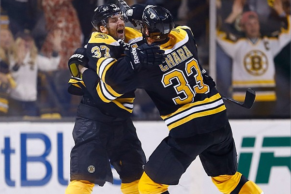 Instagram: Bergeron, Chara Celebrate After OT Winner