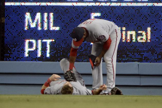 Bryce Harper Leaves Game After Ugly Collision with Right-Field Wall