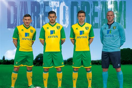 Norwich City Unveil New Home Kit for 2013-14 Season