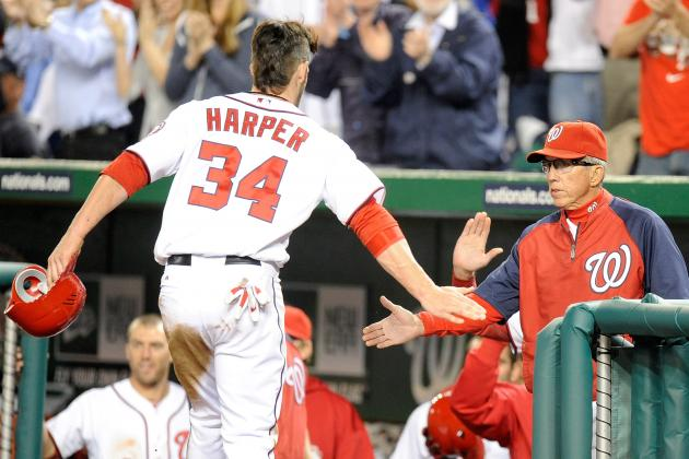 Bryce Harper Runs into Wall, Leaves Washington Win Early