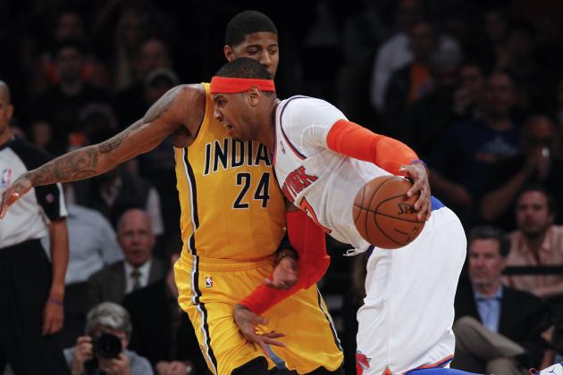 How Paul George Is Containing Carmelo Anthony