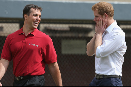 Prince Harry and Yankees Slugger Mark Teixeira Play Baseball in Harlem