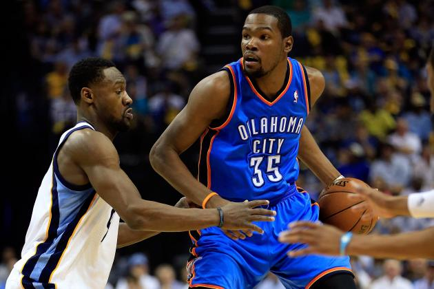 Grizzlies' Dogged Defense, Led by Tony Allen, Slows Thunder's Durant