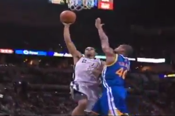 Video: Spurs' Kawhi Leonard Dunks over Warriors' Harrison Barnes