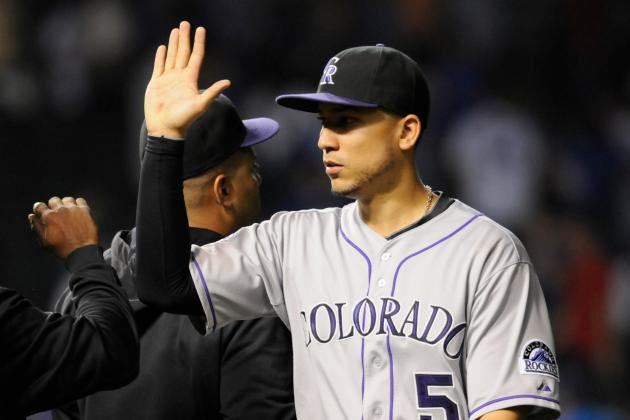 Gonzalez 5-for-5 with 2 Homers as Rox Rout Cubs