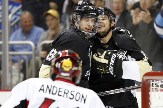 Penguins Get to Senators Goalie Anderson Early in Game 1 Win