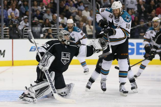 NHL Playoffs 2013: Jonathan Quick Perfect as L.A. Kings Blank Sharks in Game 1