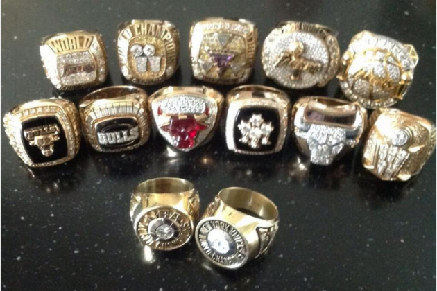 Phil Shows off His 13 Rings