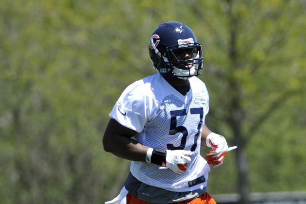 Jon Bostic Spent Bears Rookie Camp at MLB