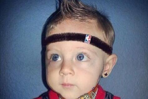 Heat Fans Dress Their Kid as 'Baby Birdman'