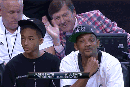 Craig Sager Photobombed Will and Jaden Smith