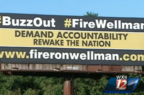 Wake Forest Fans Erect a Billboard Demanding the Firing of Coach, AD