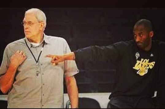 Kobe Bryant Posts Picture of Himself with Phil Jackson