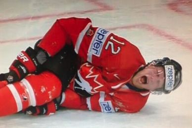 Eric Staal Injured in Knee-on-Knee Collision at Worlds