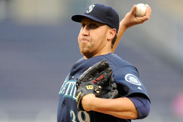Mariners Scratch Starter Harang Due to Back