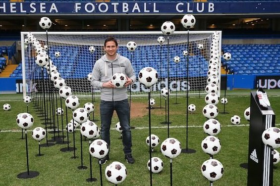 Adidas Created a Stamford Bridge Display of Frank Lampard's 203 Chelsea Goals