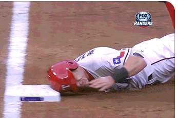 Ian Kinsler Nails This Slide into Third Base [GIF]