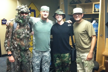 Those Are the Rays, Though in Camo Gear