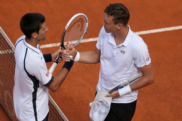 Top Seed Djokovic Bounced by Berdych in Rome
