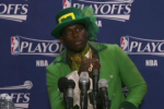Conan O'Brien Spoofs NBA Postgame Outfits
