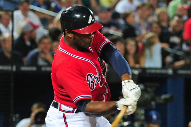 Justin Upton's Grand Slam Leads Braves to 8-5 Victory over Dodgers