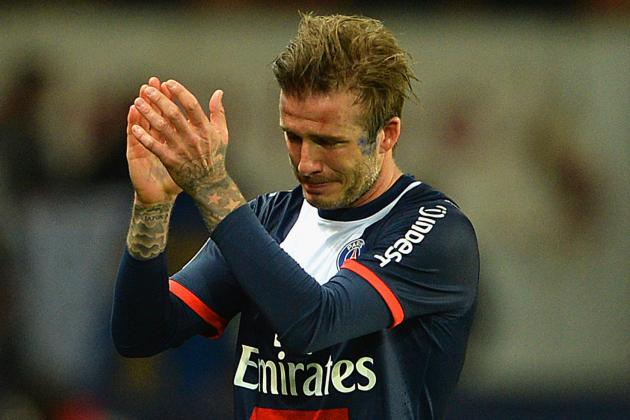 David Beckham Picks Up Assist Is Final Home Game for PSG