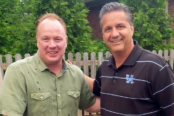 Coach Cal and Coach Stoops Hanging Out