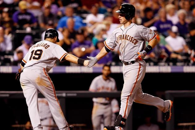 Posey, Scutaro Out for Series Finale vs. Rockies
