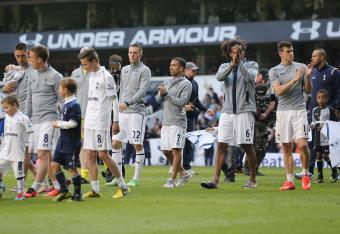 Tottenham's players bid their fans and the season farewell.