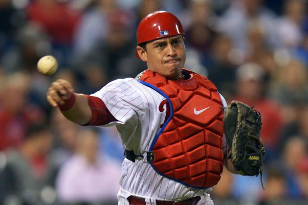 Carlos Ruiz Pulled from Game with Hamstring Strain