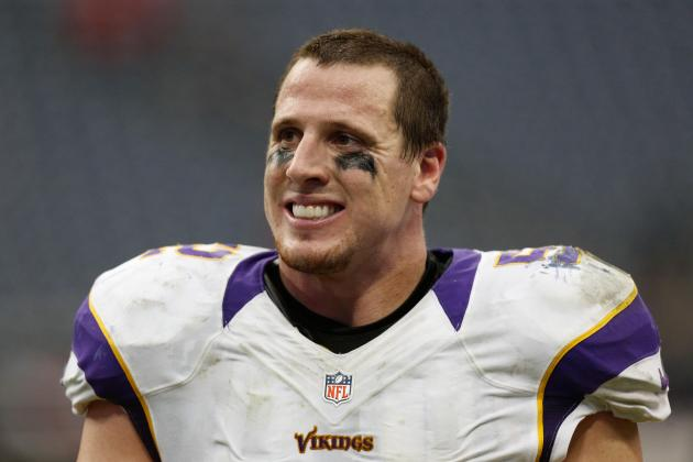 Minnesota Vikings: Chad Greenway Underrated at No. 70 on Top 100 Players of 2013