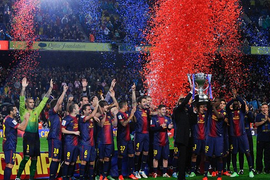 Barca Celebrates Title After Routine Valladolid Win