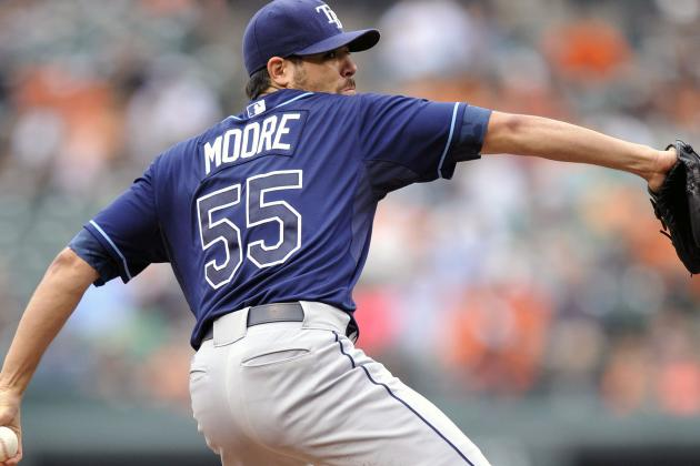 Matt Moore matches Babe Ruth with 8-0start