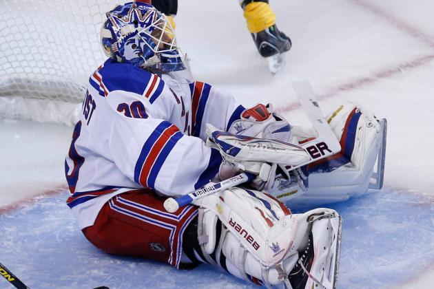 Lundqvist Felt Discomfort in Shoulder in Game 2