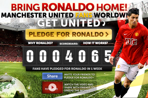 Can Crowd Sourcing 'Bring Ronaldo Home' to Manchester United?