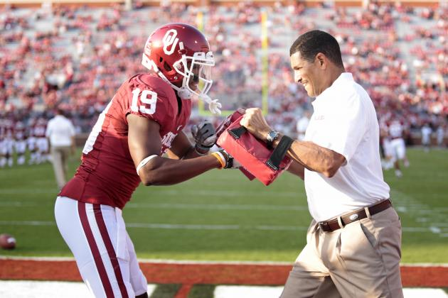 Jay Norvell Working on Luring a Tall Group of Wide Receivers to Norman