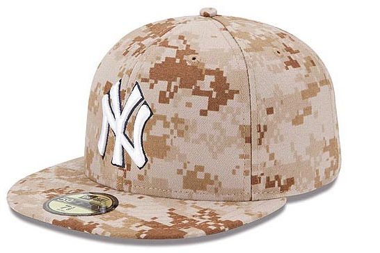 Yankees Will Wear Pixelated Camouflage Hats on Memorial Day