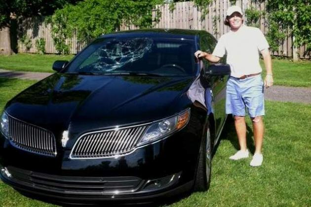 Golfer Wins Car with Amazing Hole-in-One, Immediately Breaks Car's Windshield