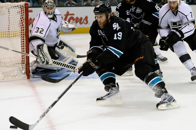 Joe Thornton, Sharks Dominating the Kings on Faceoffs