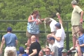 Husband absolves beer-tossing wife for Wrigley bleacher incident