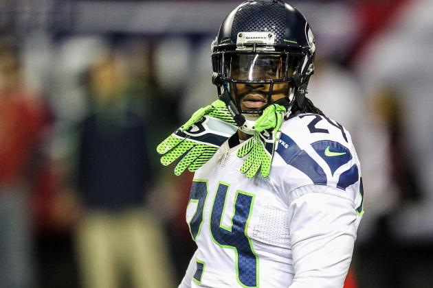 Marshawn Lynch Only Healthy Seahawk Missing from First Workout