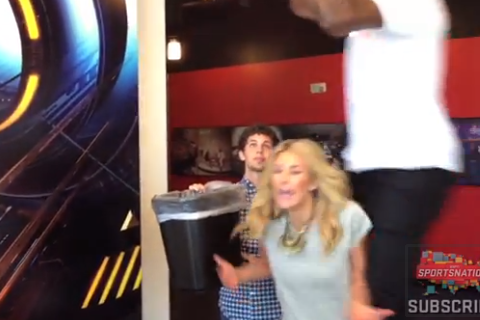 DeAndre Jordan Posterizes ESPN's Charissa Thompson (Video)