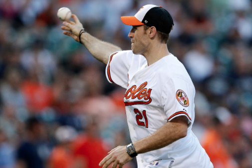 Brooks Laich Throws Out Orioles' First Pitch